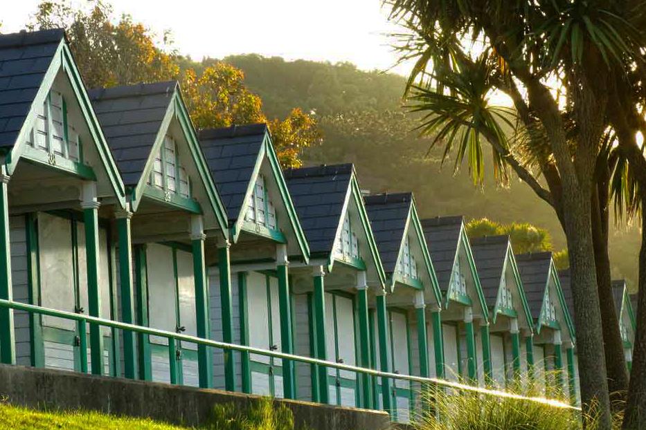 Langland beach huts