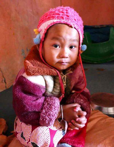 Little girl in nursery school Ramkot village Nepal