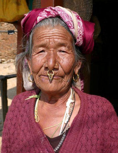 Newari lady near the village of Ramkot Nepal