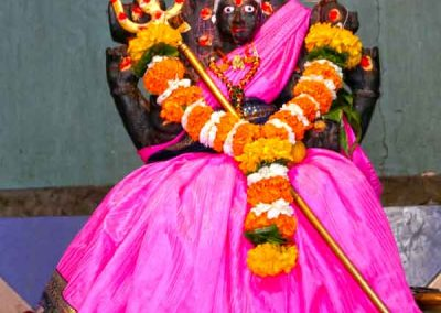 Garlanded Idol in temple