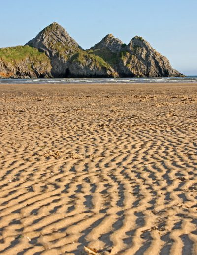 Three Cliff Bay ripples in the sand