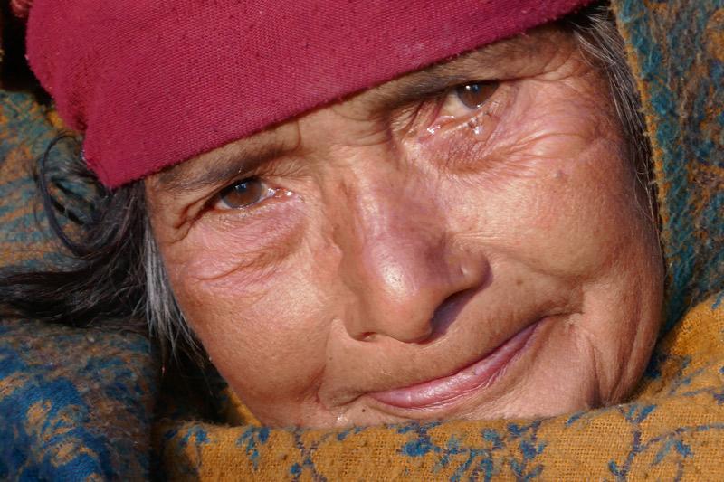 Woman in village Nepal