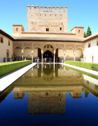 Courtyard of the Myrtles Alhambra Palace Granada Spain