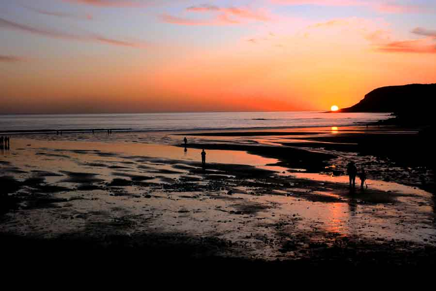 Winter sunset Caswell Bay