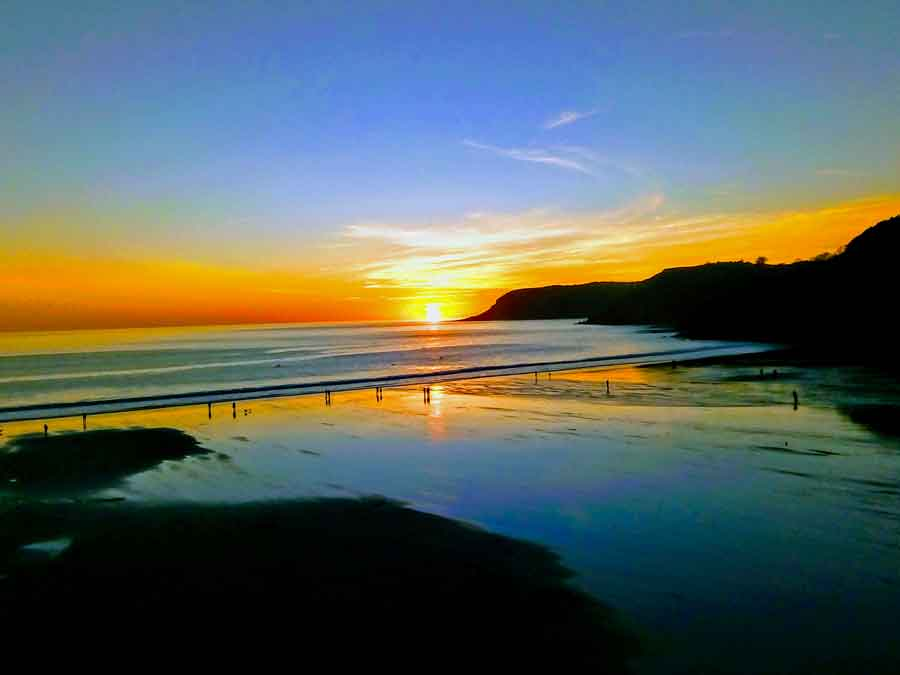 Caswell Bay Sunset
