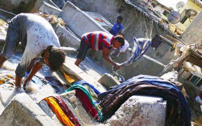Dhobi ghats outdoor laundry Banganga Mumbai