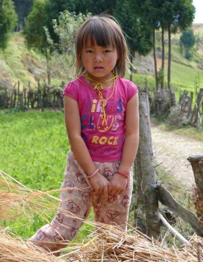 Girl on farm Bhutan