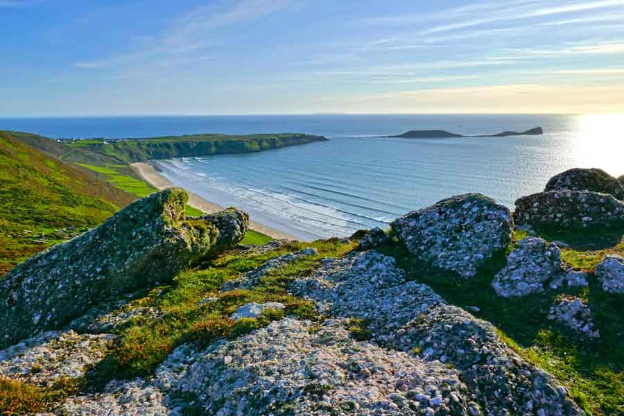 Looking Across to Worms Head