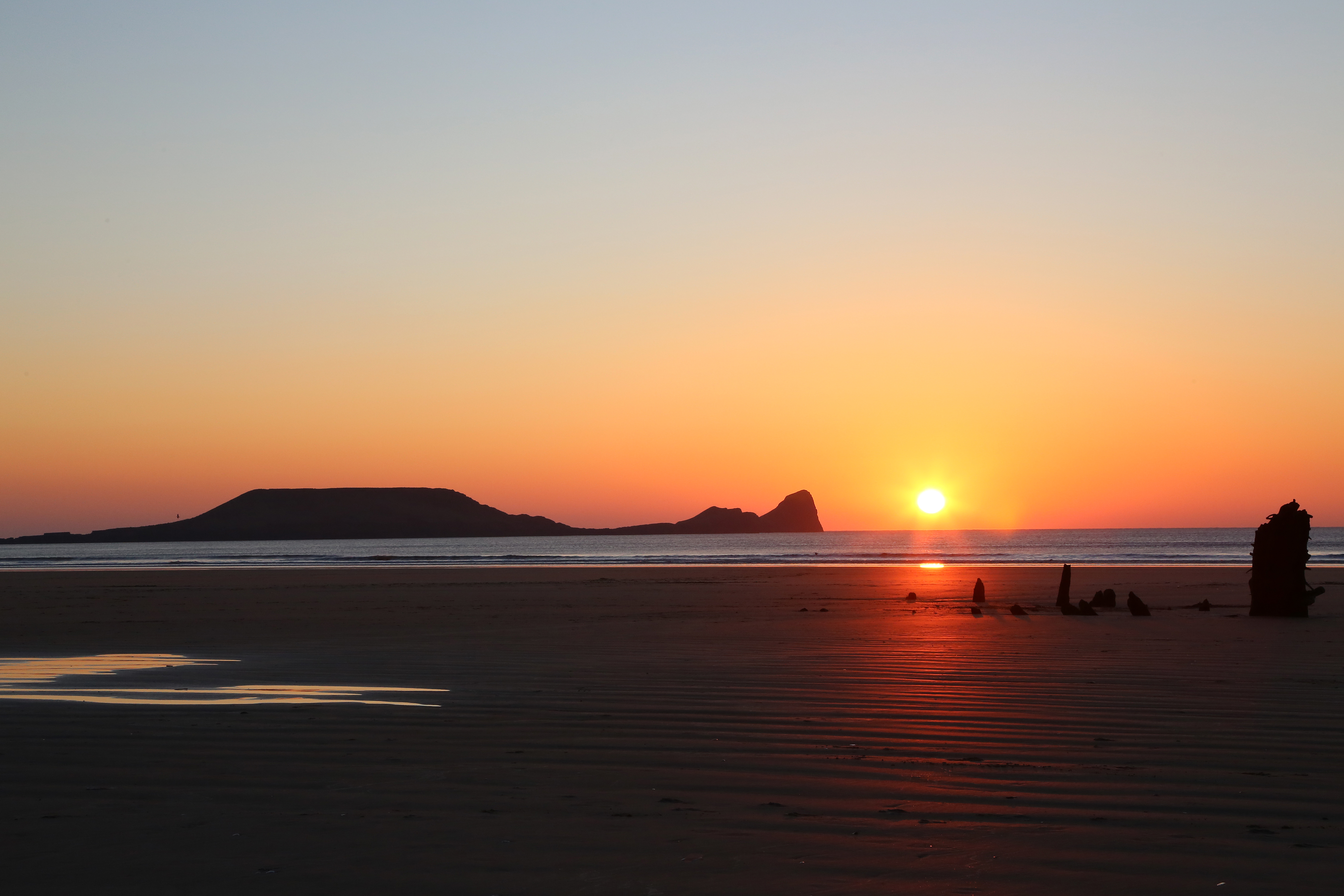 Sunset at Worm's Head, Gower