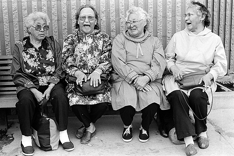 Group of ladies Barrow Alaska