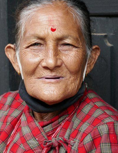 Lady in Bandipur village Nepal