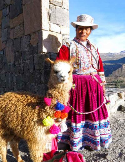 Lady and Alpaca Peru