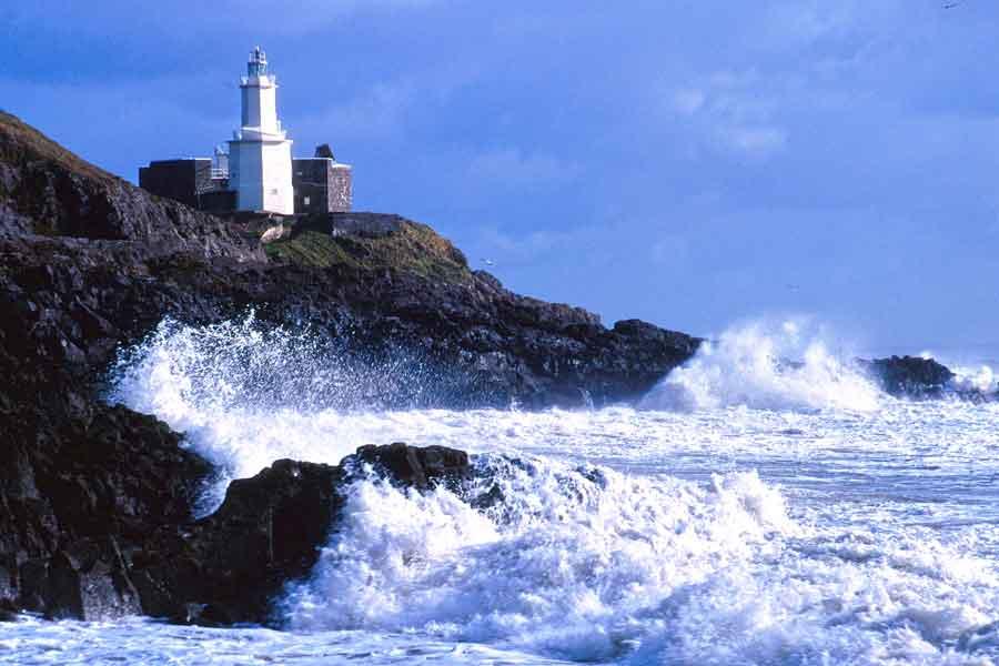 Stormy seas, Mumbles Lighthouse