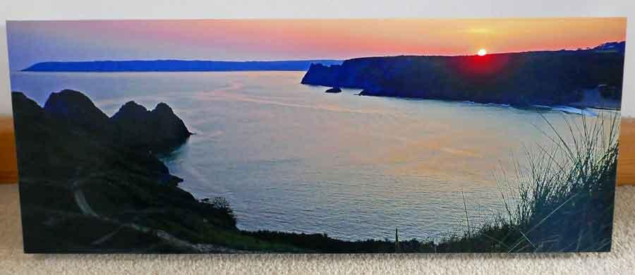 Three Cliffs Bay Sunset