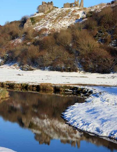 Snow at Pennard Castle
