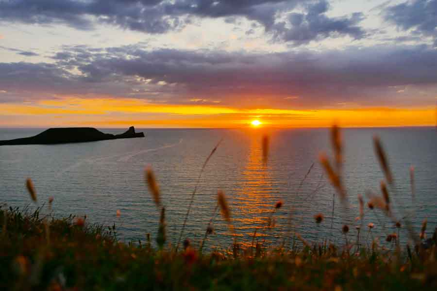 Sunset at Worms Head