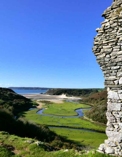 Three Cliffs viewed from Pennard Castle