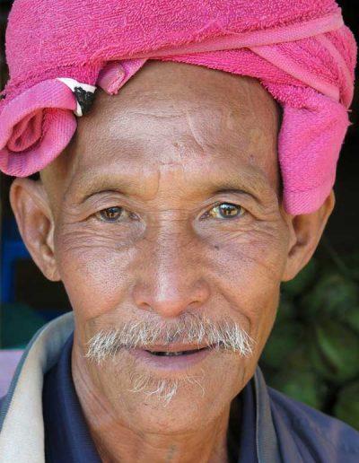 Man in rural village Myanmar