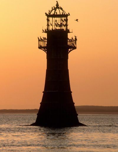 Whiteford Point Lighthouse at sunset